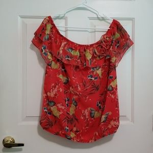 NY&Co. Sweet Pea red floral top